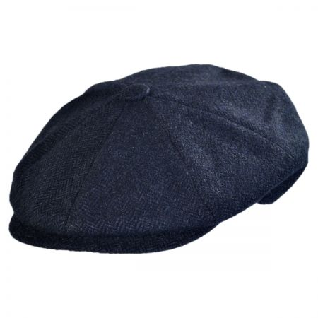 Jaxon Hats - Made in Italy Roberto Herringbone Newsboy cap