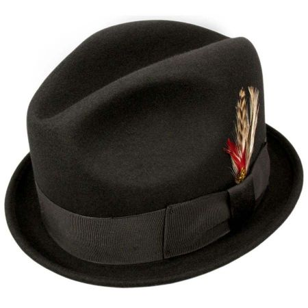 Golden Gate Hat Company Broadway Stingy Brim Fedora Hat