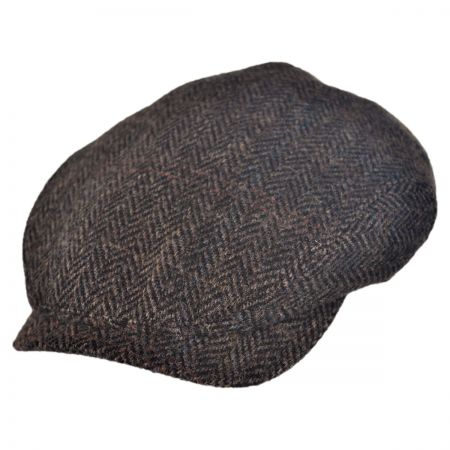 Wigens Caps Harris Herringbone Tweed Ivy Cap