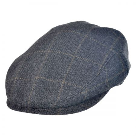 Wigens Caps Wool/Cashmere Plaid Ivy Cap with Earflaps