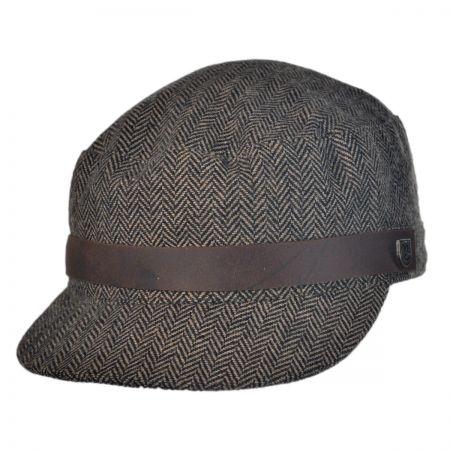 Brixton Hats Tweed Busker Cadet Cap