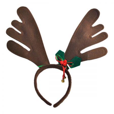 Jacobson Bells and Holly Reindeer Antler Headband