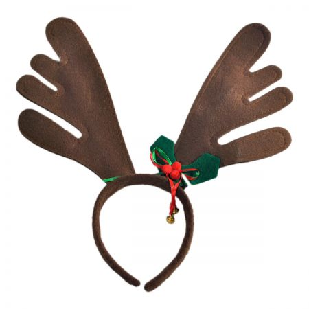 Jacobson Bells and Holly Reindeer Antler Hat