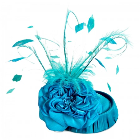 Arturo Rios Collection Hellena Pillbox Fascinator Hat