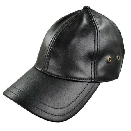 Stetson Leather Baseball Cap