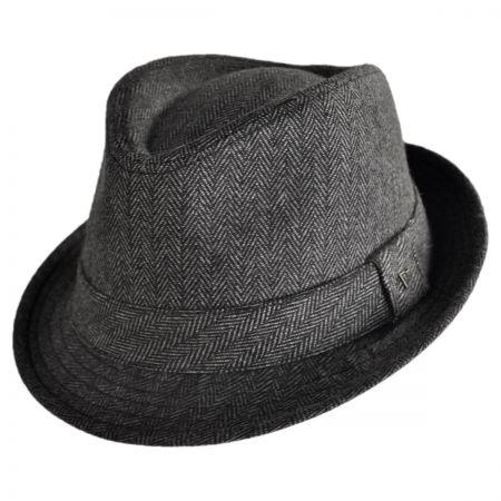 EK Collection by New Era Ollie Herringbone Wool Felt Fedora Hat