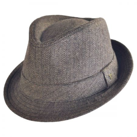 EK Collection by New Era Ollie Herringbone Fedora Hat