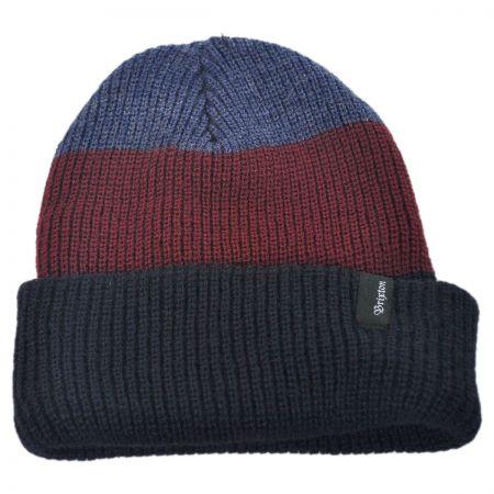Brixton Hats 3 Stripe Heist Acrylic Beanie Hat