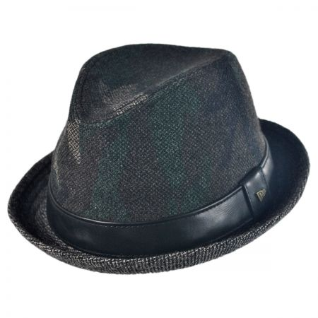 EK Collection by New Era Quinn Camo Tweed Wool Felt Fedora Hat