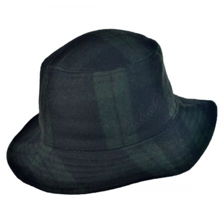 Woolrich Plaid Wool Bucket Hat