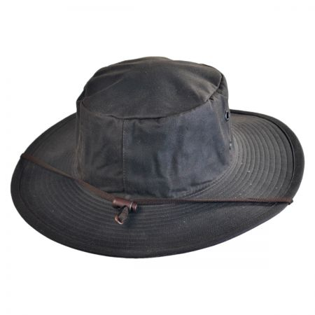 Hills Hats of New Zealand The Squatter Waxed Cotton Booney Hat