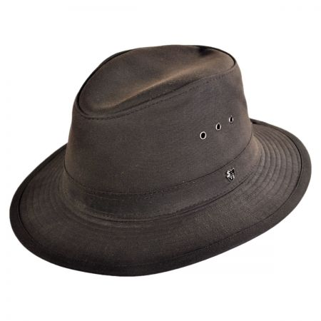 Hills Hats of New Zealand The Milford Wax Cotton Fedora Hat