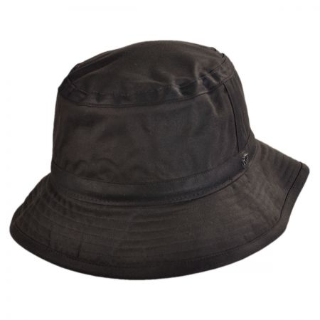 Hills Hats of New Zealand The Storm Waxed Cotton Bucket Hat