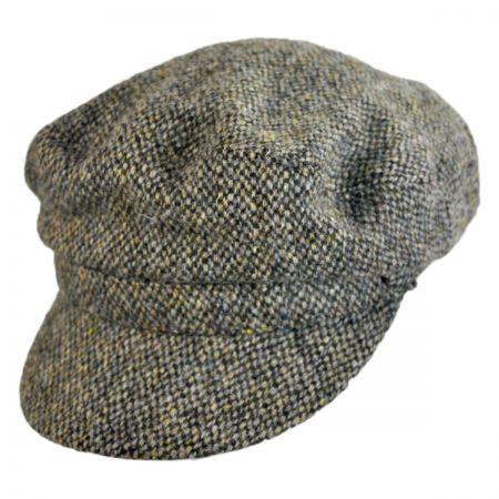 Hills Hats of New Zealand Harris Tweed Wool Boating Cap