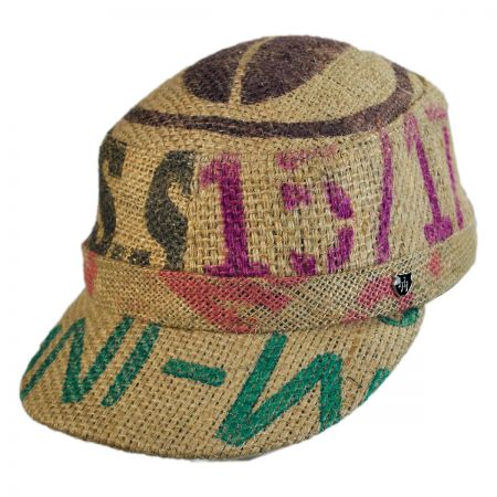 Hills Hats of New Zealand Havana Coffee Works Jute Gulf Cadet Cap