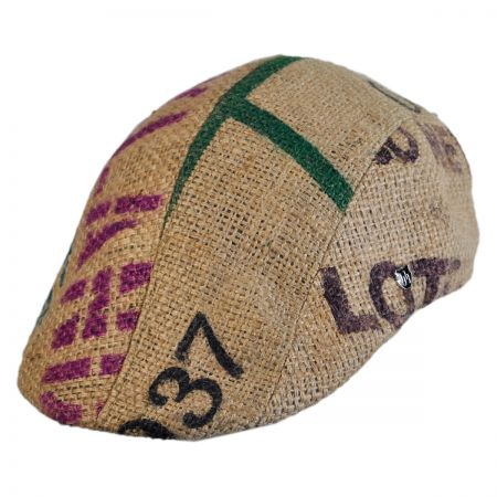 Hills Hats of New Zealand Havana Coffee Works Jute Duckbill Ivy Cap