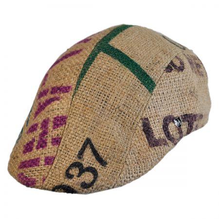Hills Hats of New Zealand Havana Coffee Works Jute Duckbill Ivy Cap