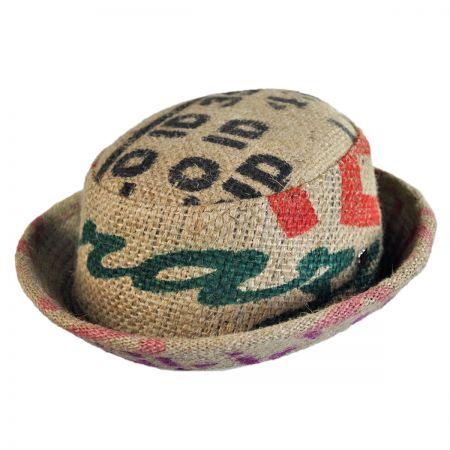 Hills Hats of New Zealand Havana Coffee Works Jute Pork Pie Hat