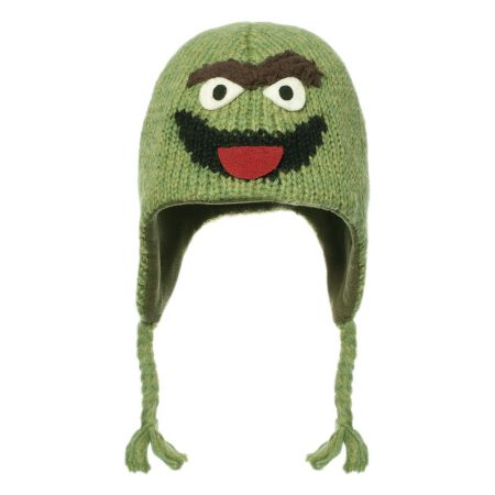 Sesame Street Oscar Peruvian Beanie Hat