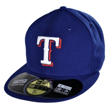 New Era Texas Rangers MLB Game 5950 Fitted Baseball Cap