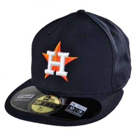 New Era Houston Astros MLB Game 5950 Fitted Baseball Cap