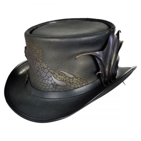 Head 'N Home Draco Leather Top Hat