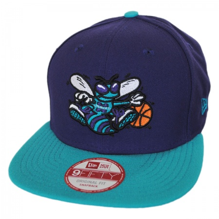 New Era Charlotte Hornets NBA Hardwood Classics 9Fifty Snapback Baseball Cap