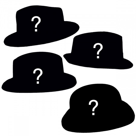 FOURdora - Four Fedora Hat Assortment alternate view 2