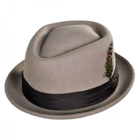 Stout Wool Felt Diamond Crown Fedora Hat