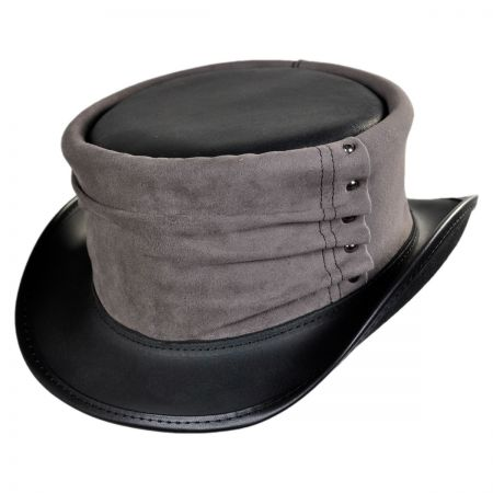 Head 'N Home Boundary Leather Top Hat