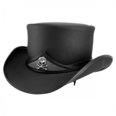 Pale Rider Leather Top Hat