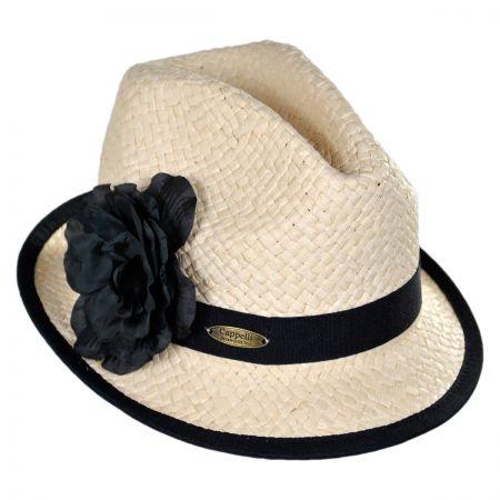 Cappelli Straworld Flower Fedora Hat