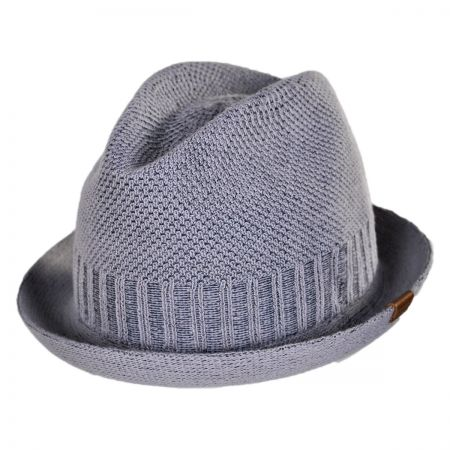 Kangol Spine Stripe Player Knit Fabric Fedora Hat