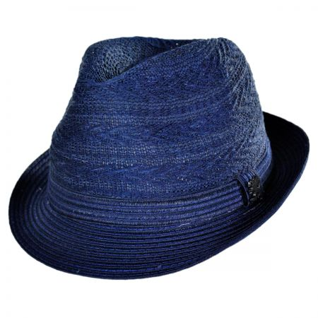 Stacy Adams Knit Crown Fabric Fedora Hat