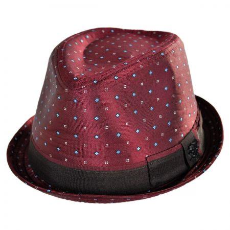 Stacy Adams Ascot Print Satin Trilby Fedora Hat