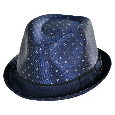 Stacy Adams Ascot Print Satin Trilby Fedora Hat