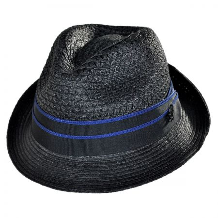 Stacy Adams Vent Toyo Straw Trilby Fedora Hat