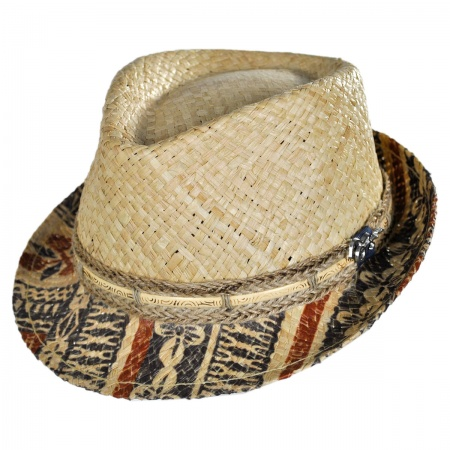 Carlos Santana Seminole Raffia Straw Fedora Hat