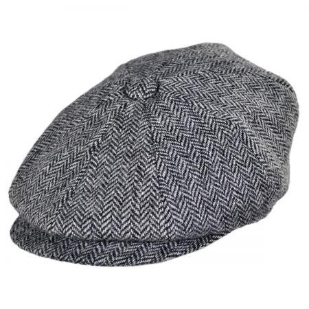 Jaxon Hats Verona Wool Herringbone Newsboy Cap