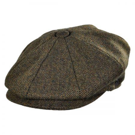 Jaxon Hats Genoa Wool Herringbone Newsboy Cap