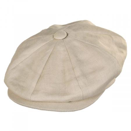 Jaxon Hats Linen Newsboy Cap