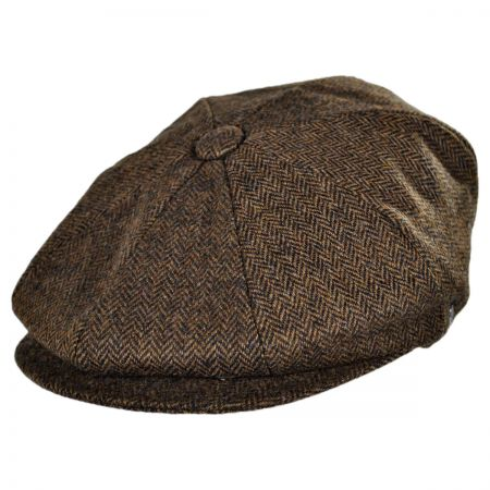 Jaxon Hats Kensington Wool Herringbone Newsboy Cap