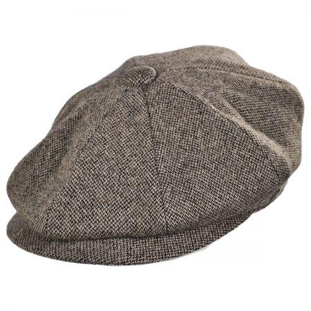 Jaxon Hats Turin Wool Tickweave Newsboy Cap