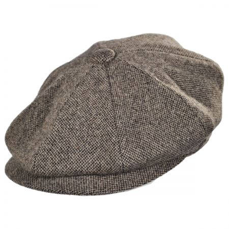 Jaxon Hats Turin Wool Tickweave Newsboy Cap