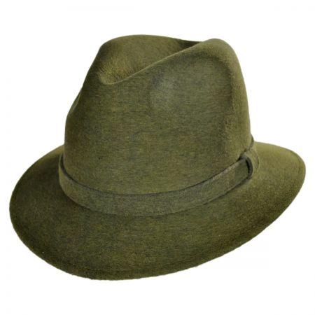 Jaxon Hats - Made in Italy Wool Felt Safari Fedora Hat by Barbisio