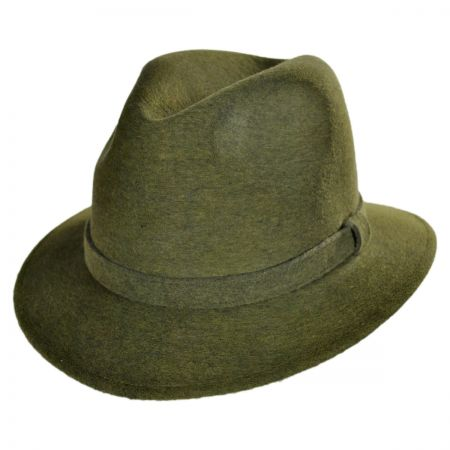 Jaxon Hats - Made in Italy Wool Felt Safari Fedora Hat by Barbisio