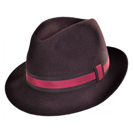 Jaxon Hats - Made in Italy Wool Felt Center Dent Fedora Hat by Barbisio