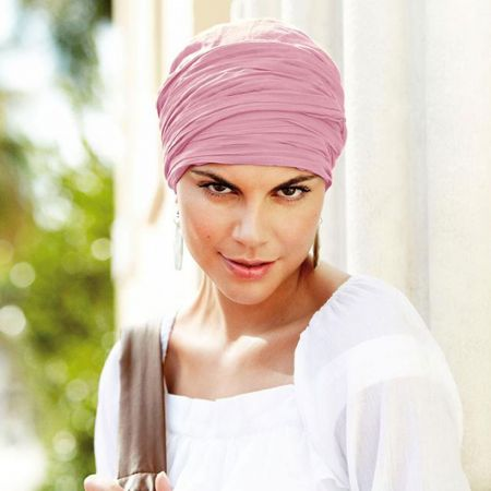 Christine by Wallaroo Hats Basic Long Crinkled Cotton Turban