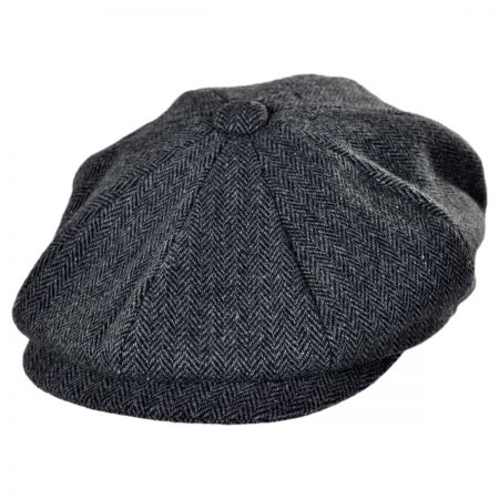 Jaxon Hats Naples Wool Herringbone Newsboy Cap