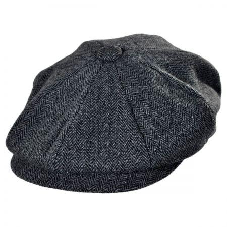 Jaxon Hats Naples Wool Herringbone Newsboy Cap